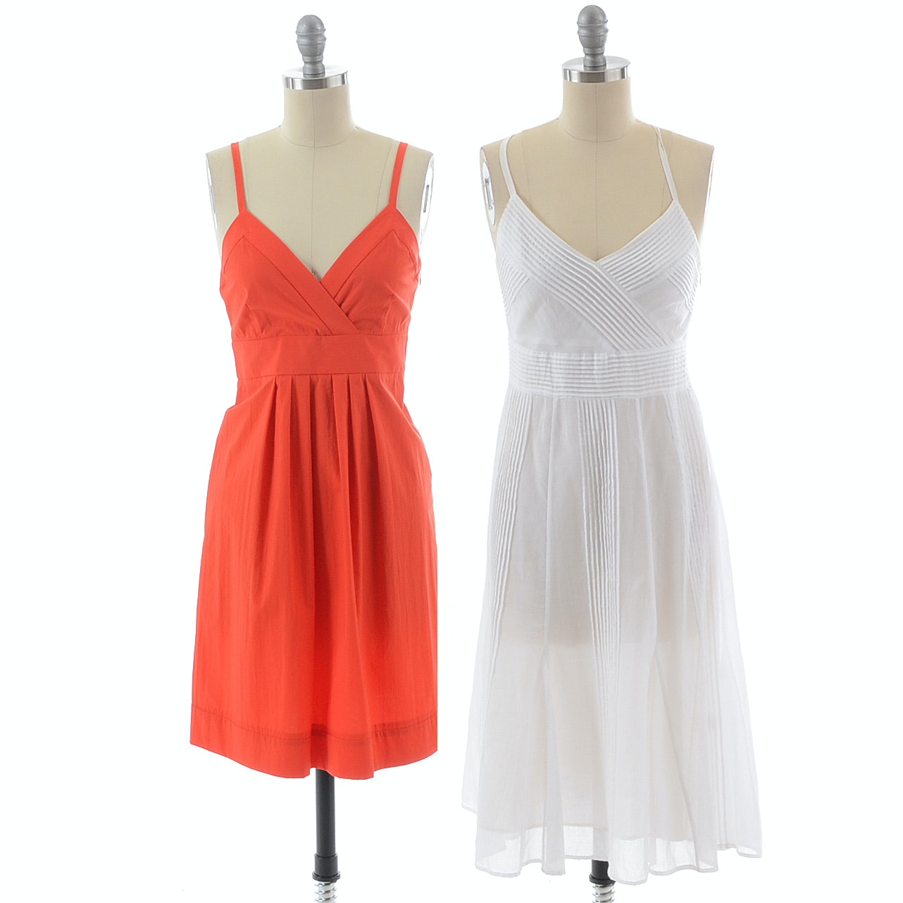 """Two Theory Brand Sleeveless Sun Dresses, Including a Red Orange """"Miga"""" Dress, New With Tag"""