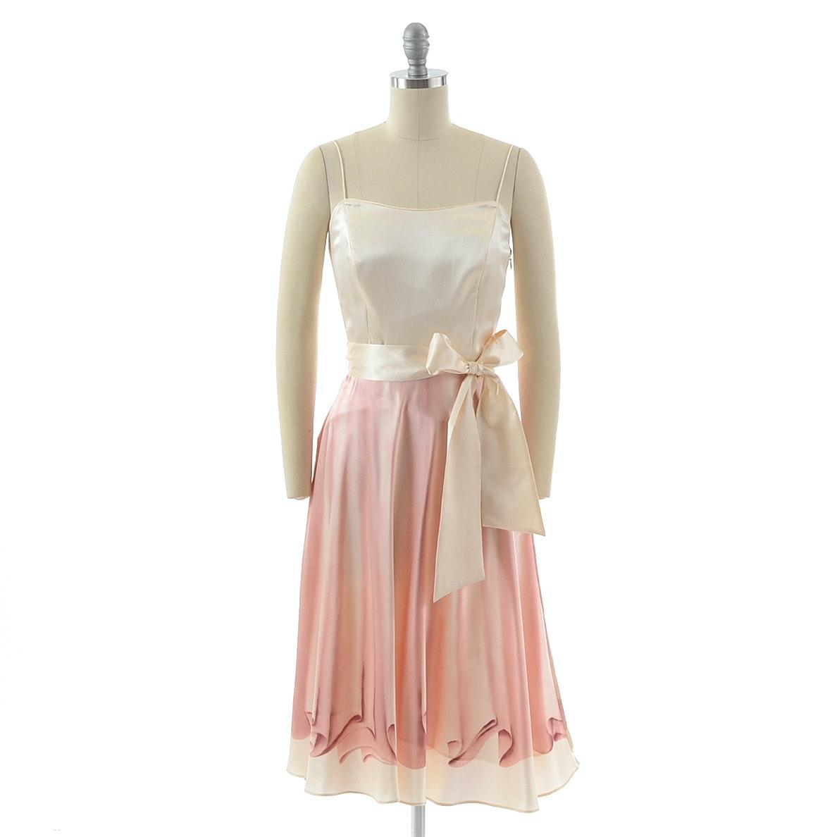 Susan Lucci Brand Silk Trompe-l'œil Dress
