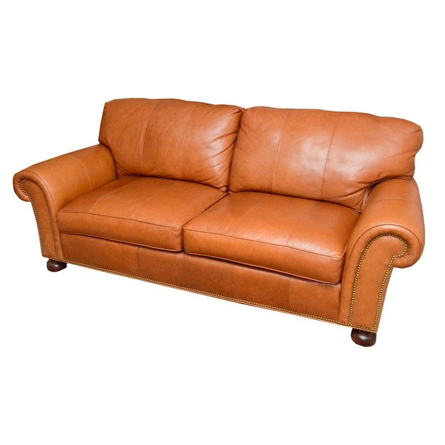 Whittemore Sherrill Leather Sofa Ebth