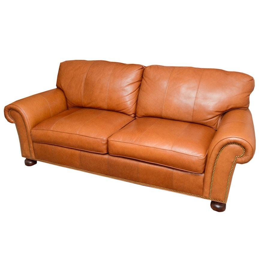 Sherrill leather sofa thesofa for Sherrill furniture
