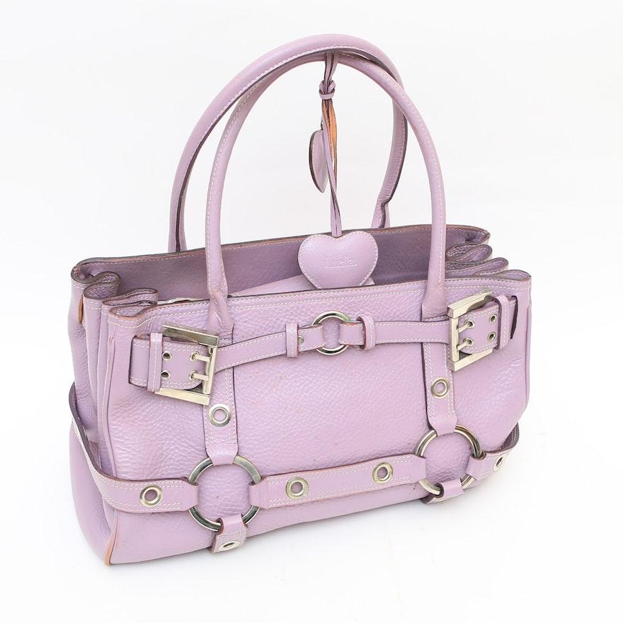 Luella Gie Lilac Leather Handbag