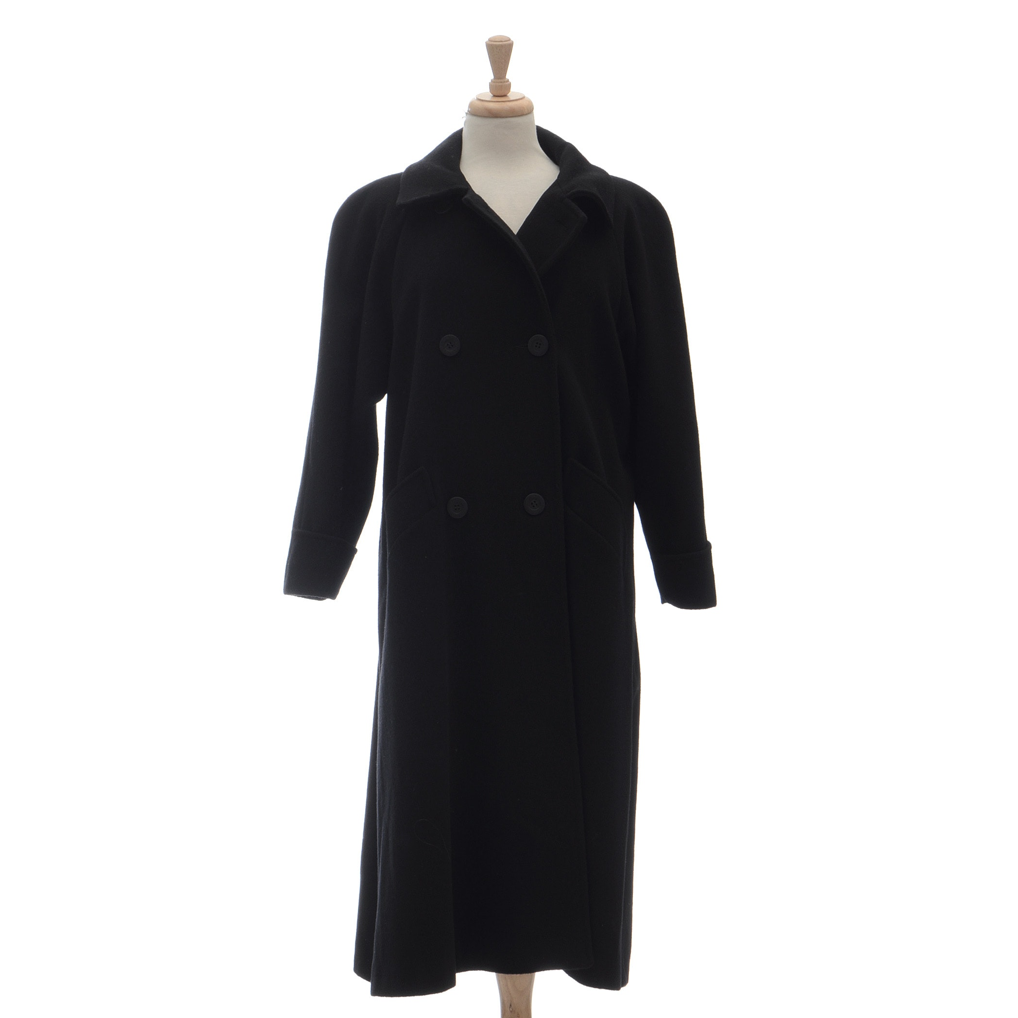 Black Double Breasted Dress Coat