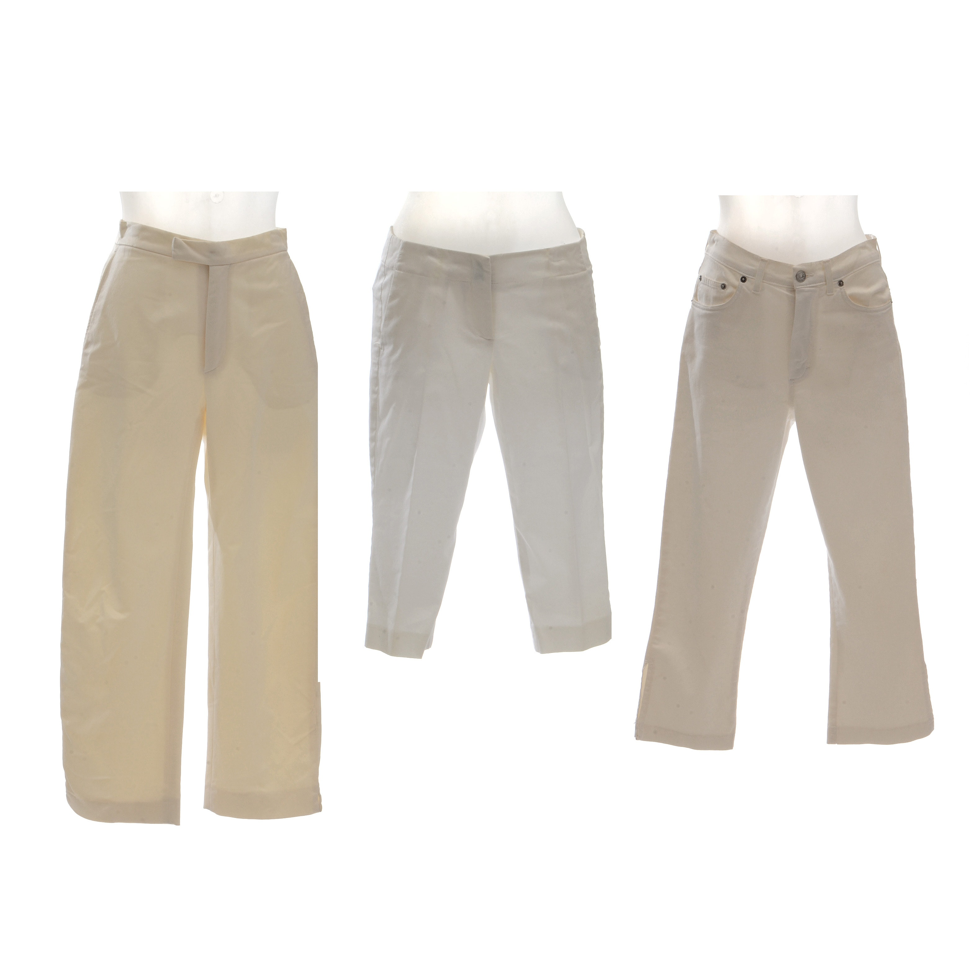 White and Cream Women's Pants