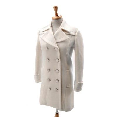 Gucci Ivory Wool Double-Breasted Coat