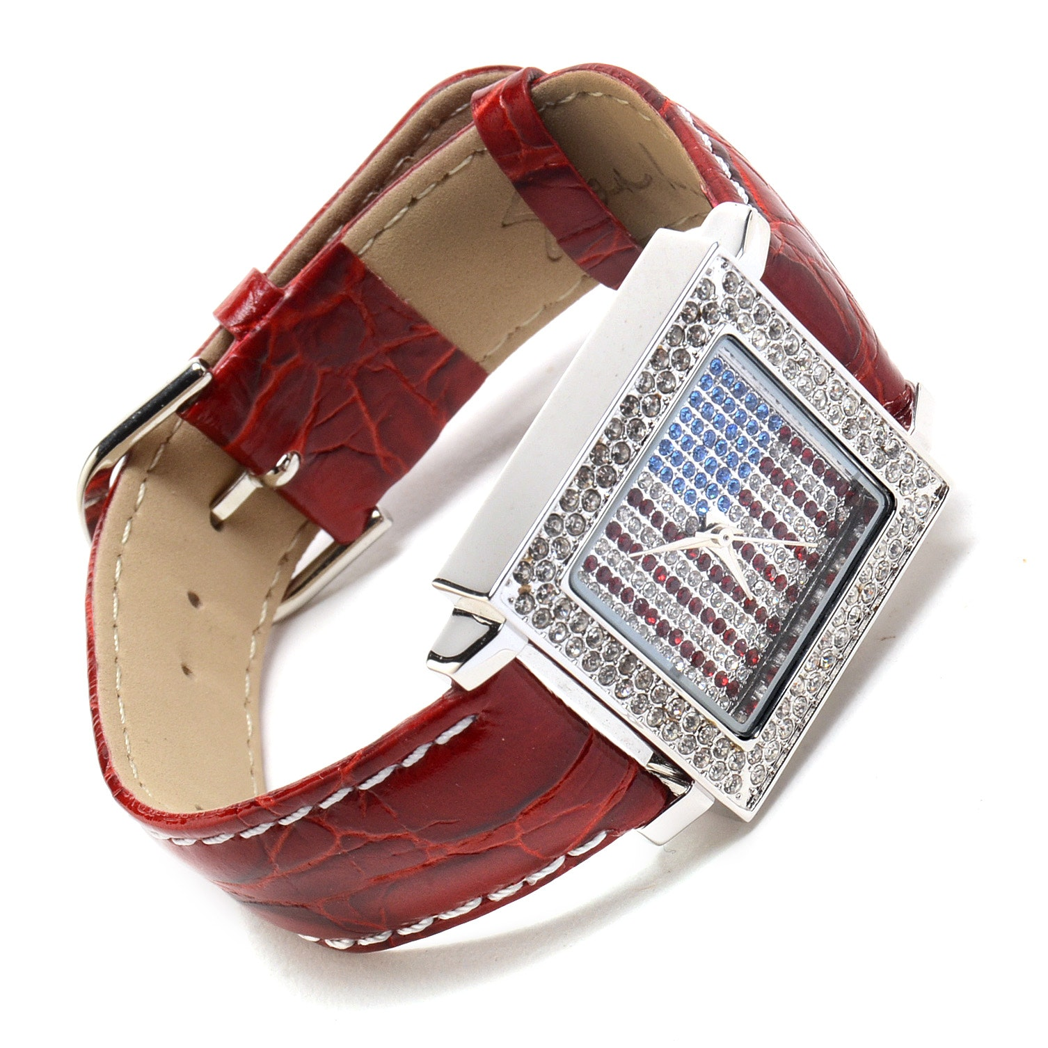 Susan Lucci Brand Wristwatch Encrusted With Rhinestones