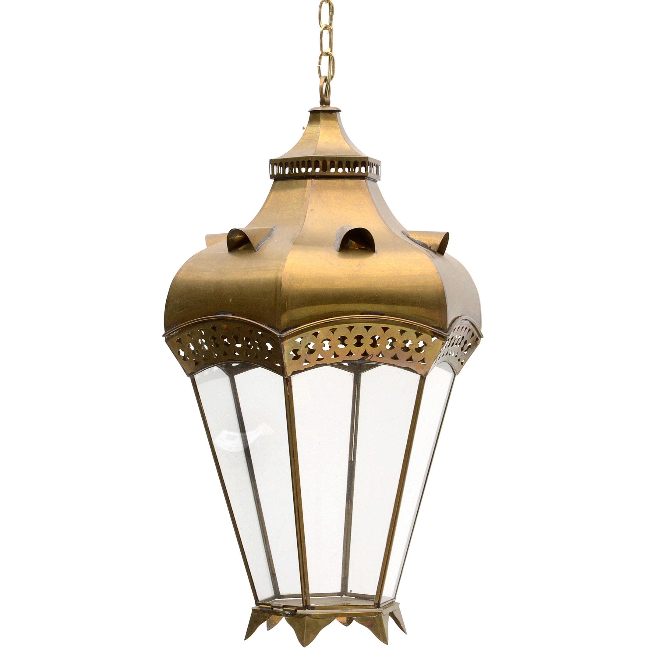 Georgian Style Brass Hanging Lantern