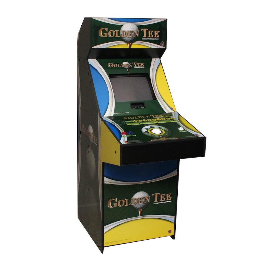 Golden Tee Cabinet Golden Tee Clubhouse Edition Arcade Game Ebth