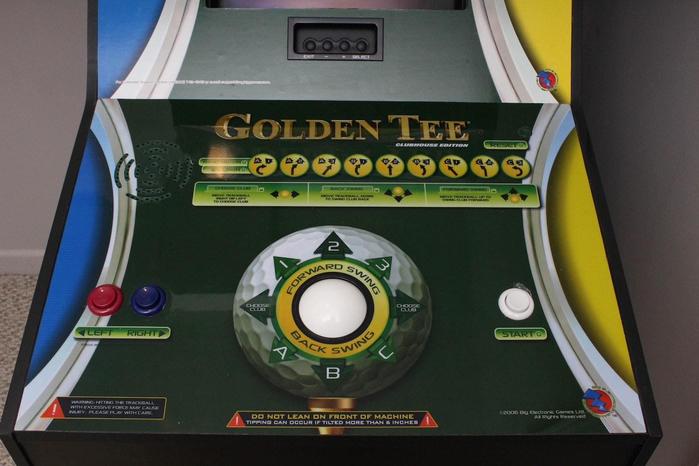 Golden tee Clubhouse edition manual