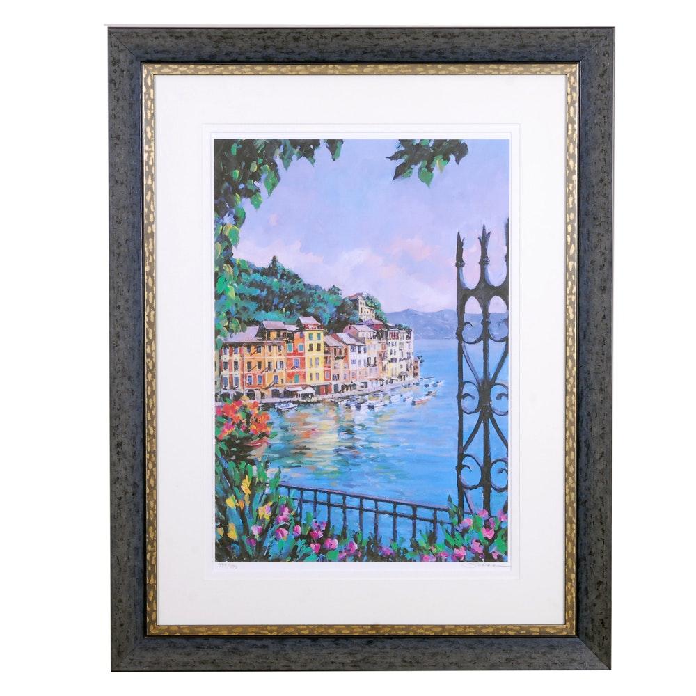 "Robert Schaar Limited Edition Serigraph ""Portofino Vista"""
