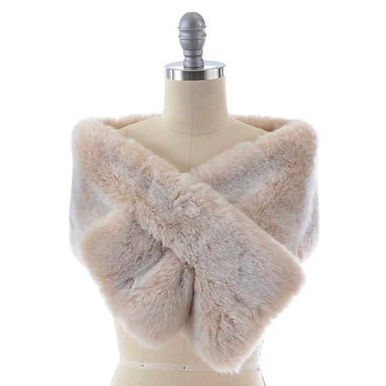 Escada by Margaretha Ley Faux Fur Stole