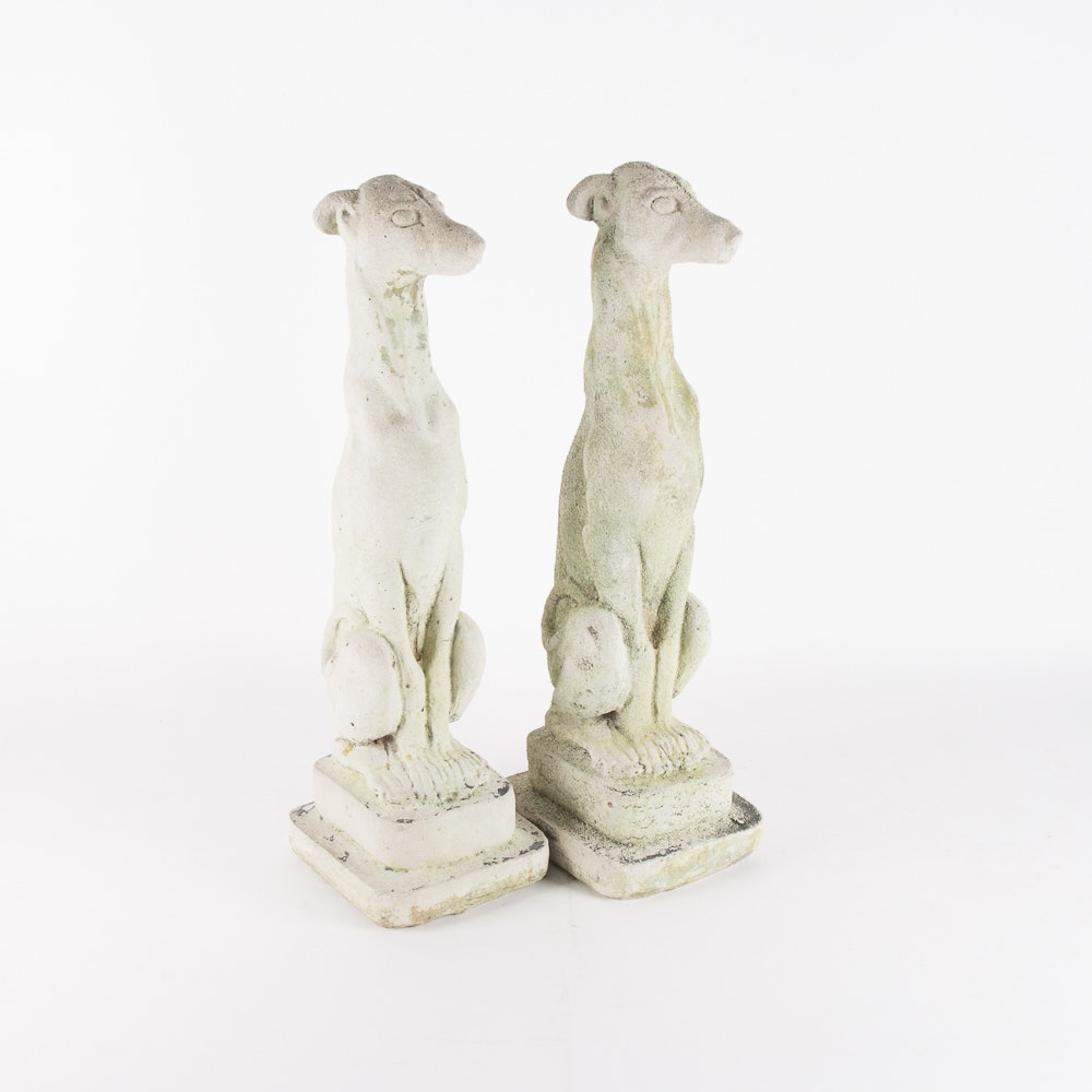 Delicieux Concrete Greyhound Garden Statues ...