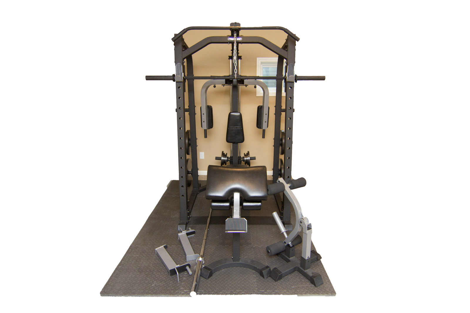 Fitness gear home gym with accessories ebth