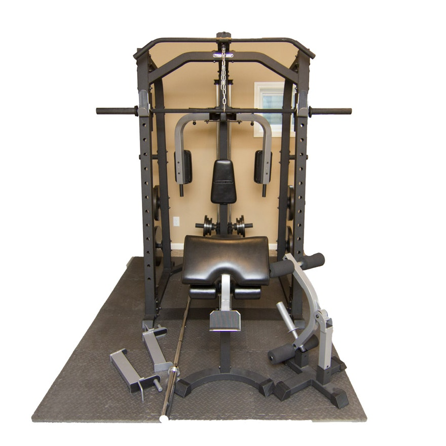 Fitness gear home gym with accessories
