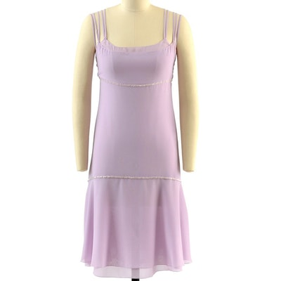 Chanel Boutique Lavender Sleeveless Dress Embellished with Beads