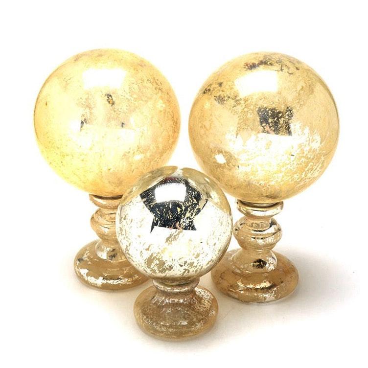 Decorative Mercury Glass Globes