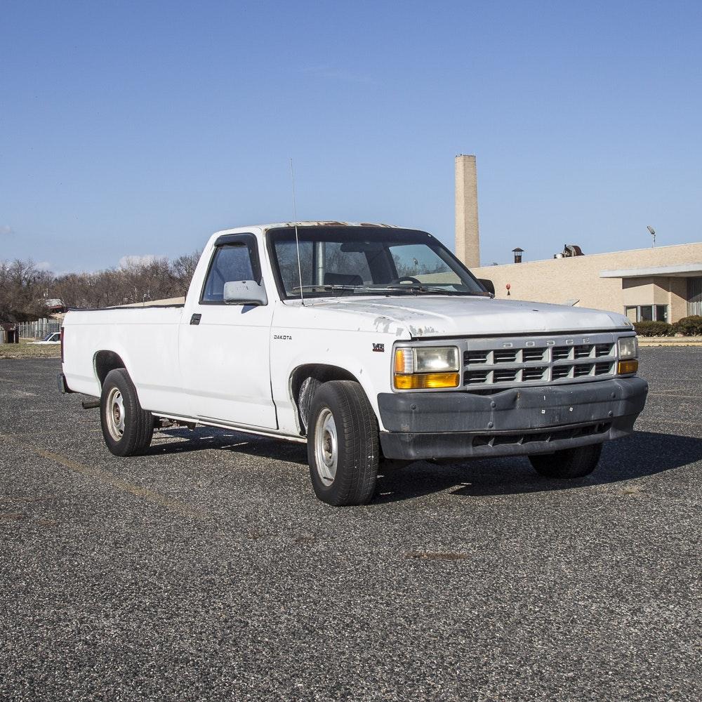 1996 White Dodge Dakota Pickup Truck : EBTH
