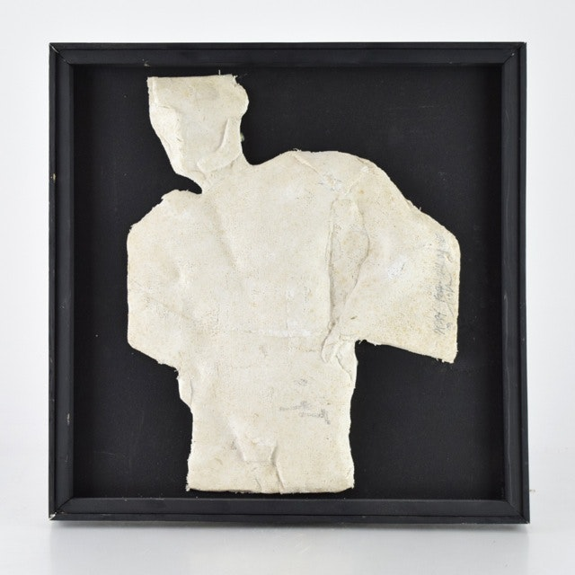 "Original Tuska Paper Mâché Relief Sculpture ""Study For Illumine"""