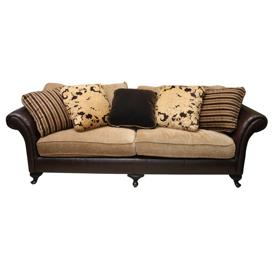 Fabric And Leather Sofas: Bernhardt Leather And Fabric Sofa