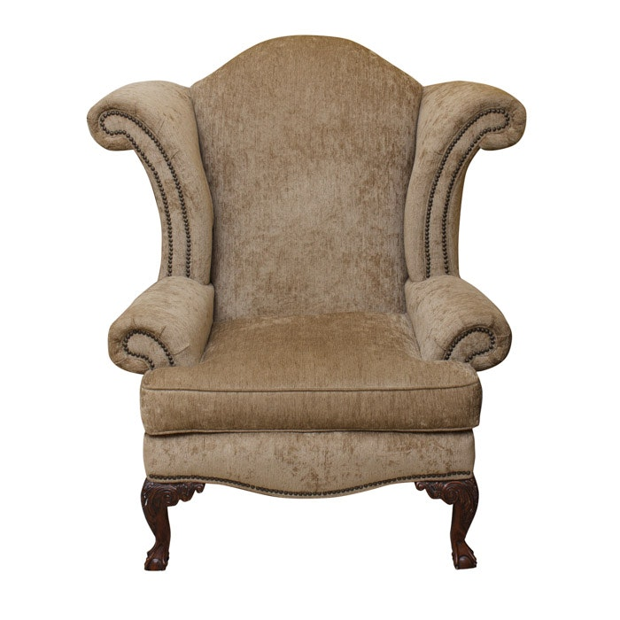 Genial Broyhill Wingback Chair With Nailhead Trim ...