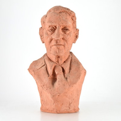 "Original Tuska Clay Sculpture ""John Sherman Cooper Variation I"" Circa 1985"