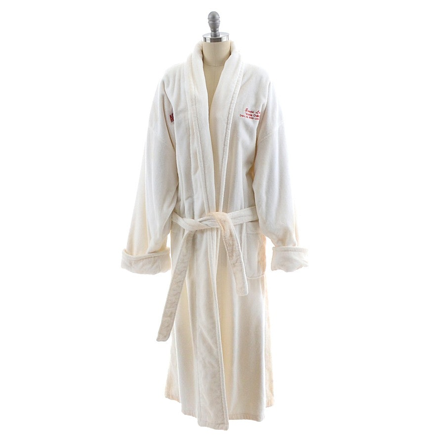 "Susan's Terry Cloth Robe from ""Annie Get Your Gun"" Embroidered ""Susan Lucci, Annie Oakley, Dec.23, 1999 - Jan.16, 2000"""