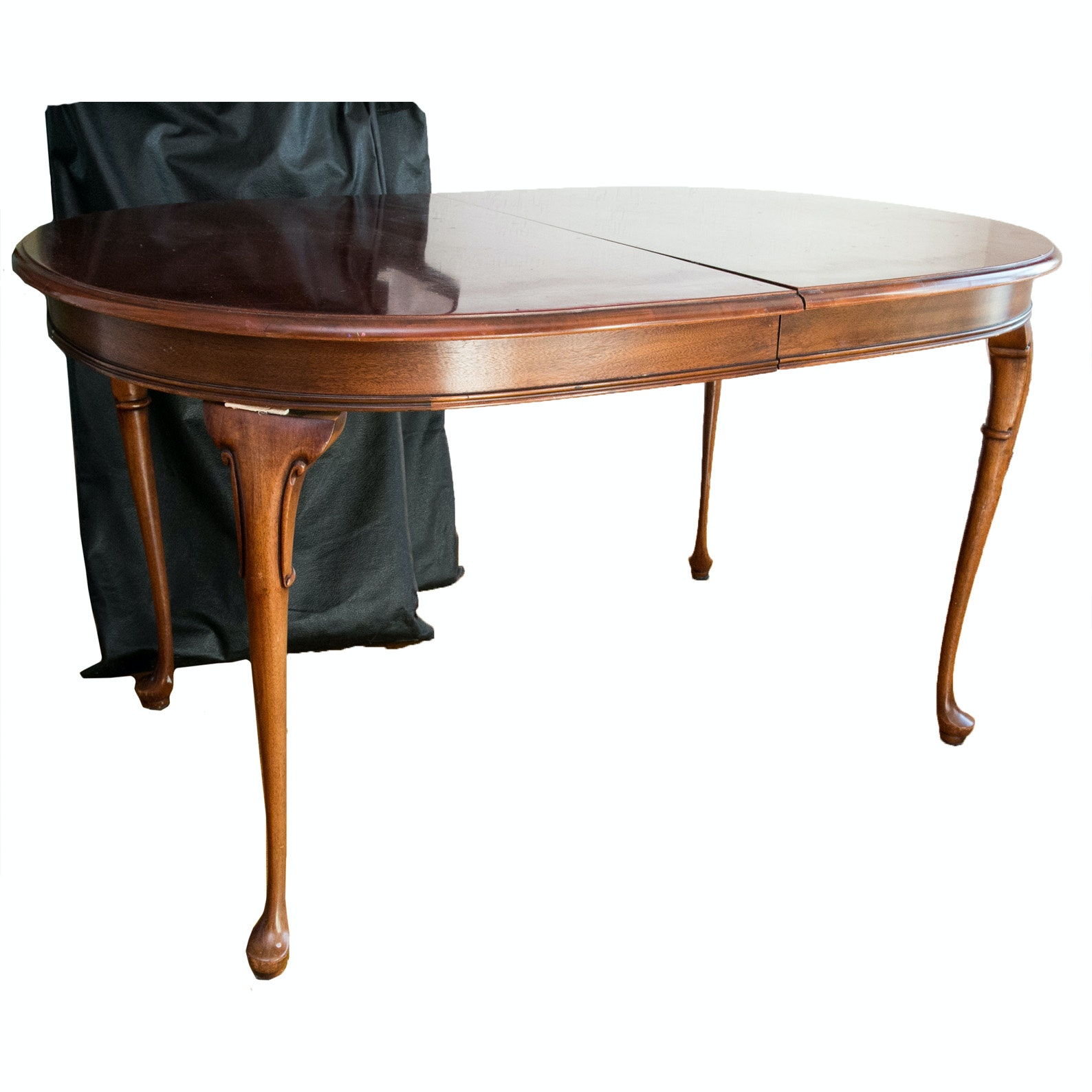 Queen Anne Style Dining Table with Extension