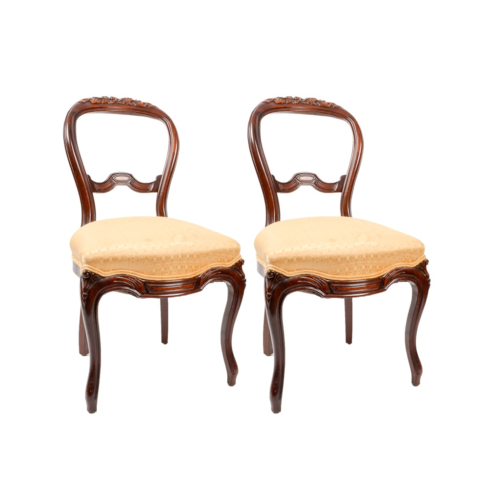 Rococo Revival Victorian Balloon Back Chairs ...