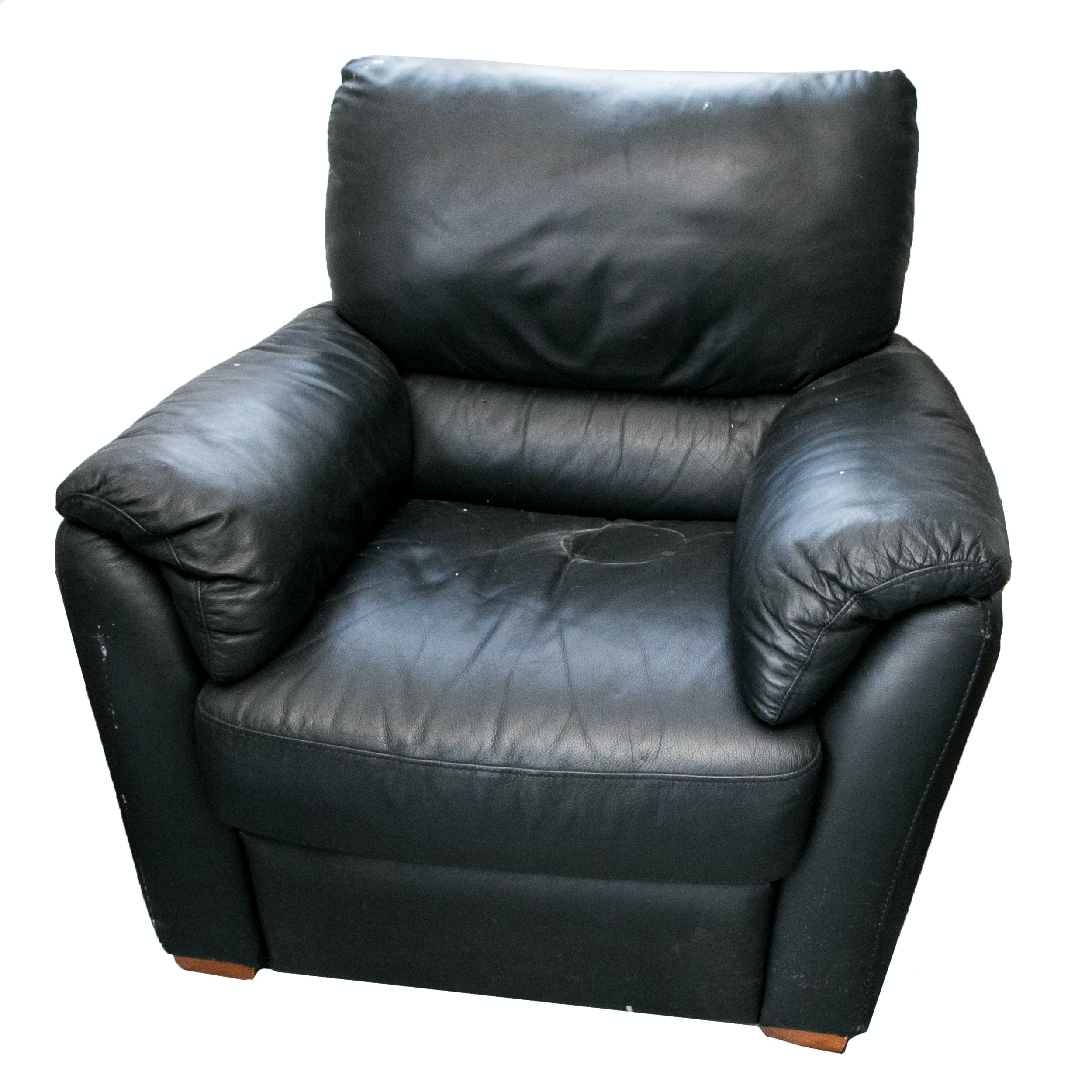 Contemporary Italsofa Black Leather Chair