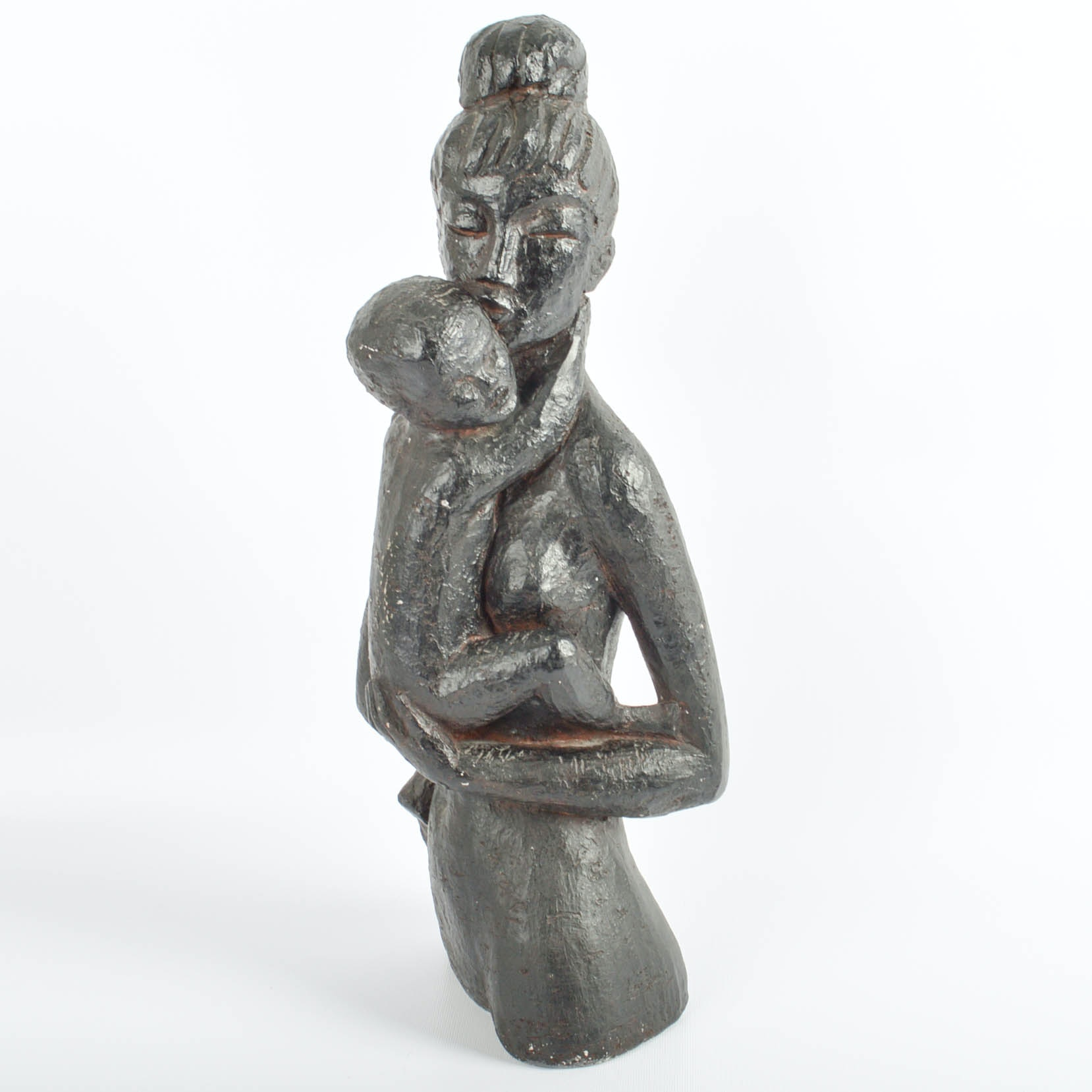 Vintage Mother and Child Sculpture