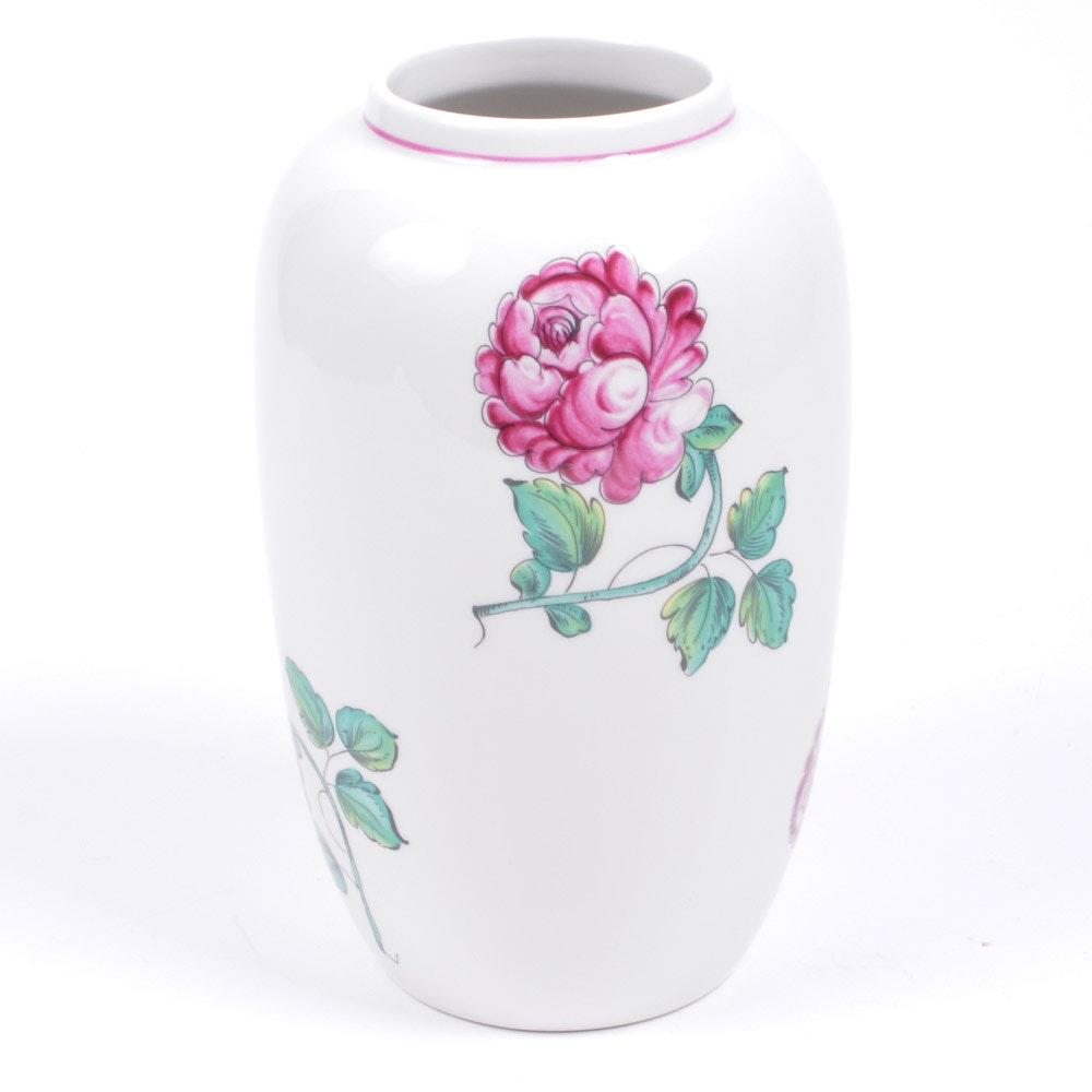 """Tiffany & Co. """"Strasbourg Flowers"""" Stoneware Vase"""
