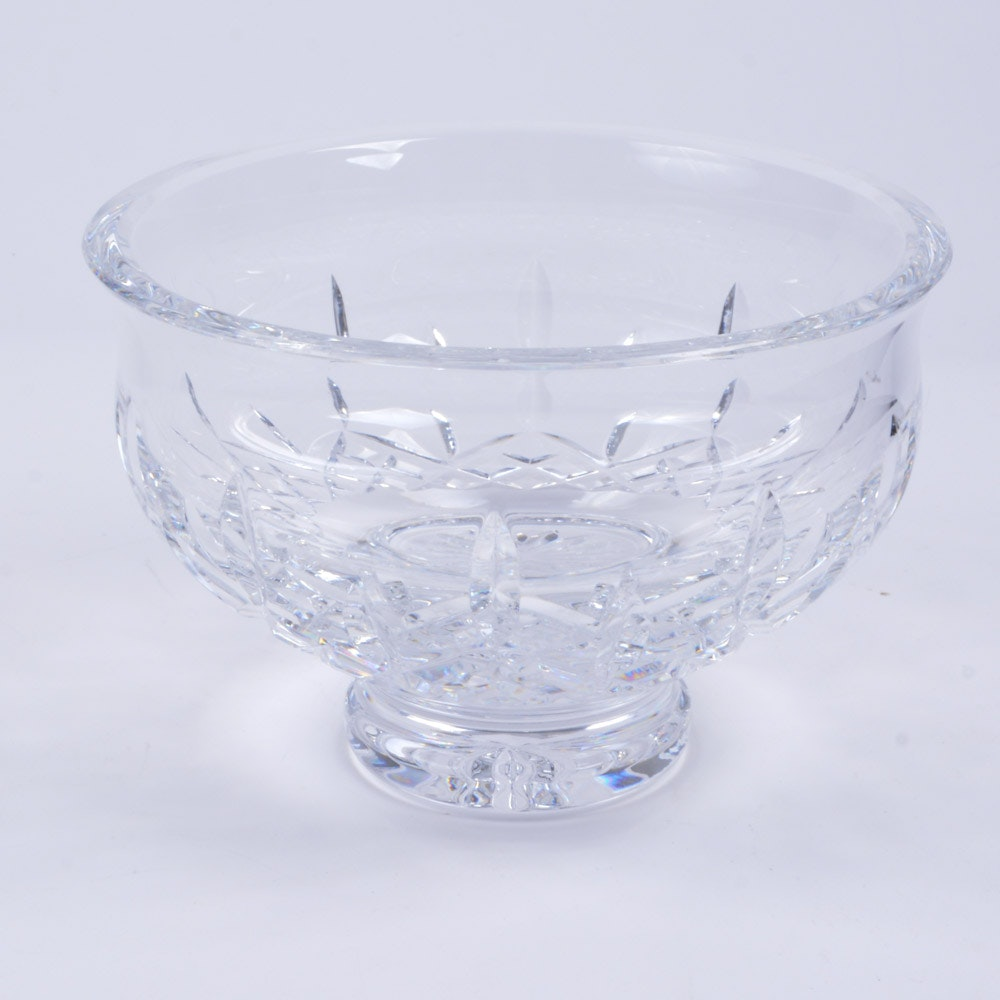 "Waterford Crystal ""Lismore"" Footed Bowl"