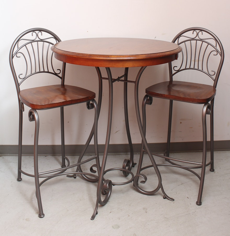 contemporary pub table and chairs  ebth - contemporary pub table and chairs
