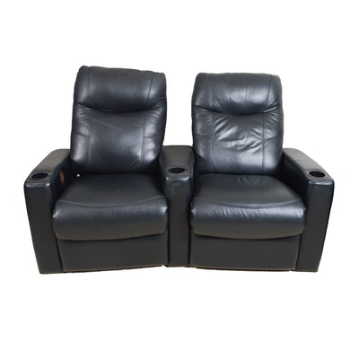 Leather Home Theater Recliners. Online Furniture Auctions   Vintage Furniture Auction   Antique