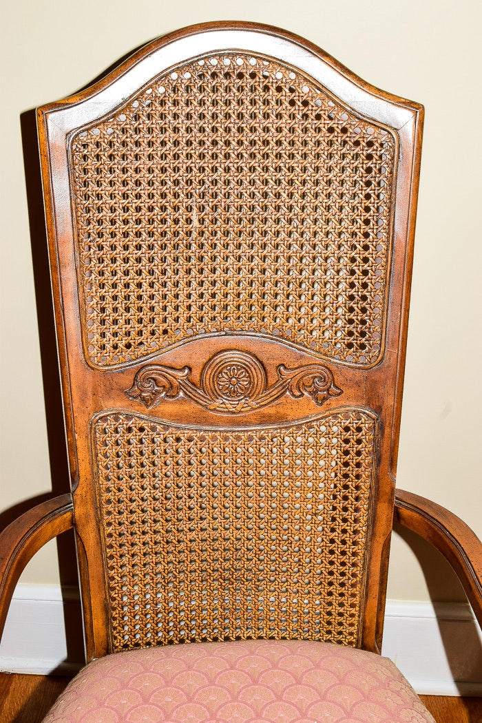 Vintage French Provincial Style Cane Back Chairs Ebth