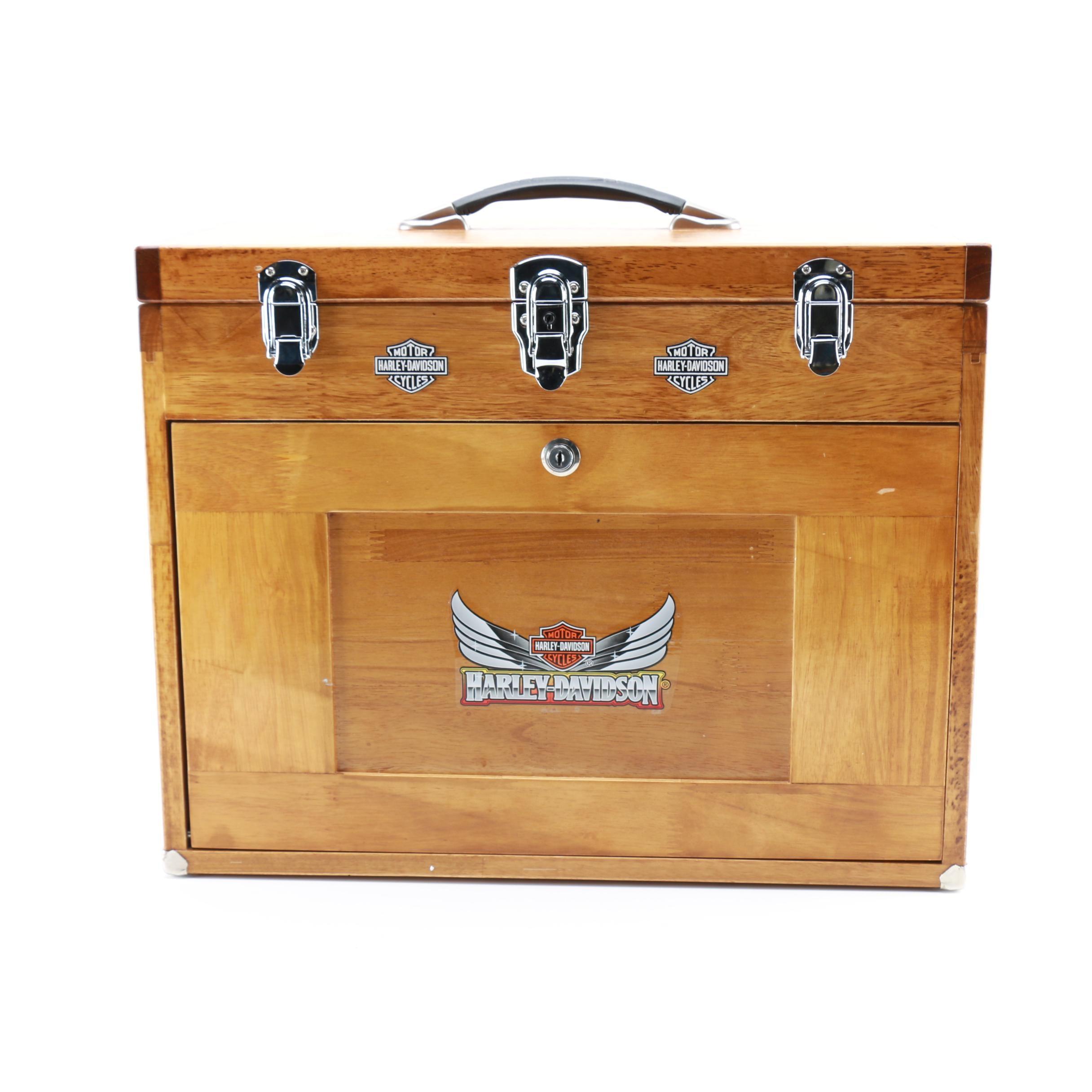 Oak Harley Davidson Tool Chest Ebth