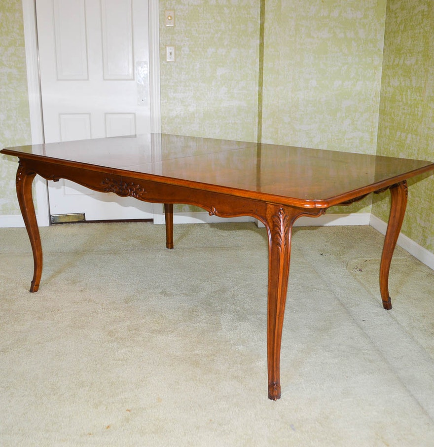 French Country Style Cherry Dining Table by Henredon : EBTH