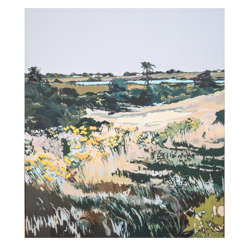 """Robert Dash Large Landscape Painting """"Clear Across Autumn"""""""