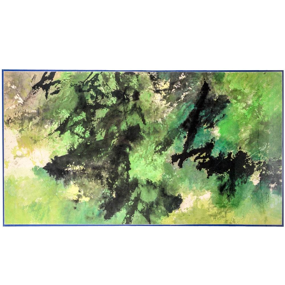 Fong Chung-Ray Original Abstract Ink and Acrylic Painting
