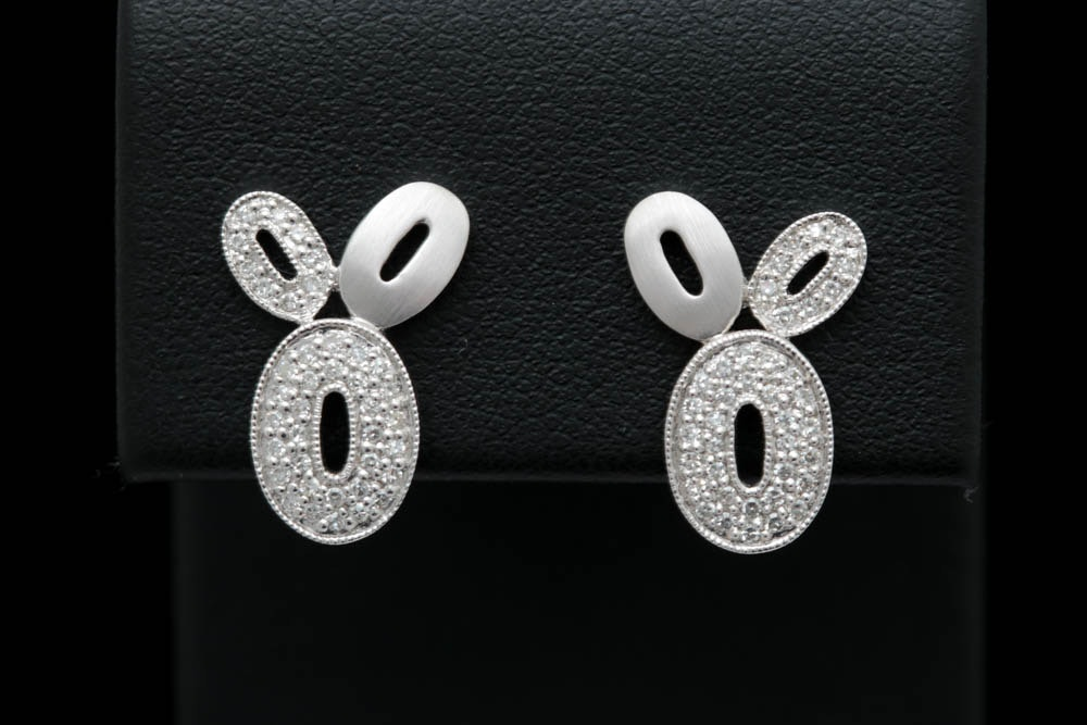 0.25 CTW Diamond and 14K White Gold Earrings