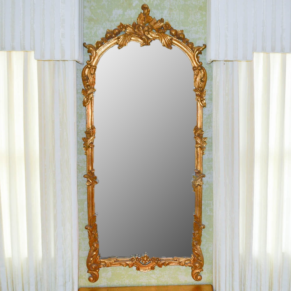 Wall Mirror With Carved Gilt Frame