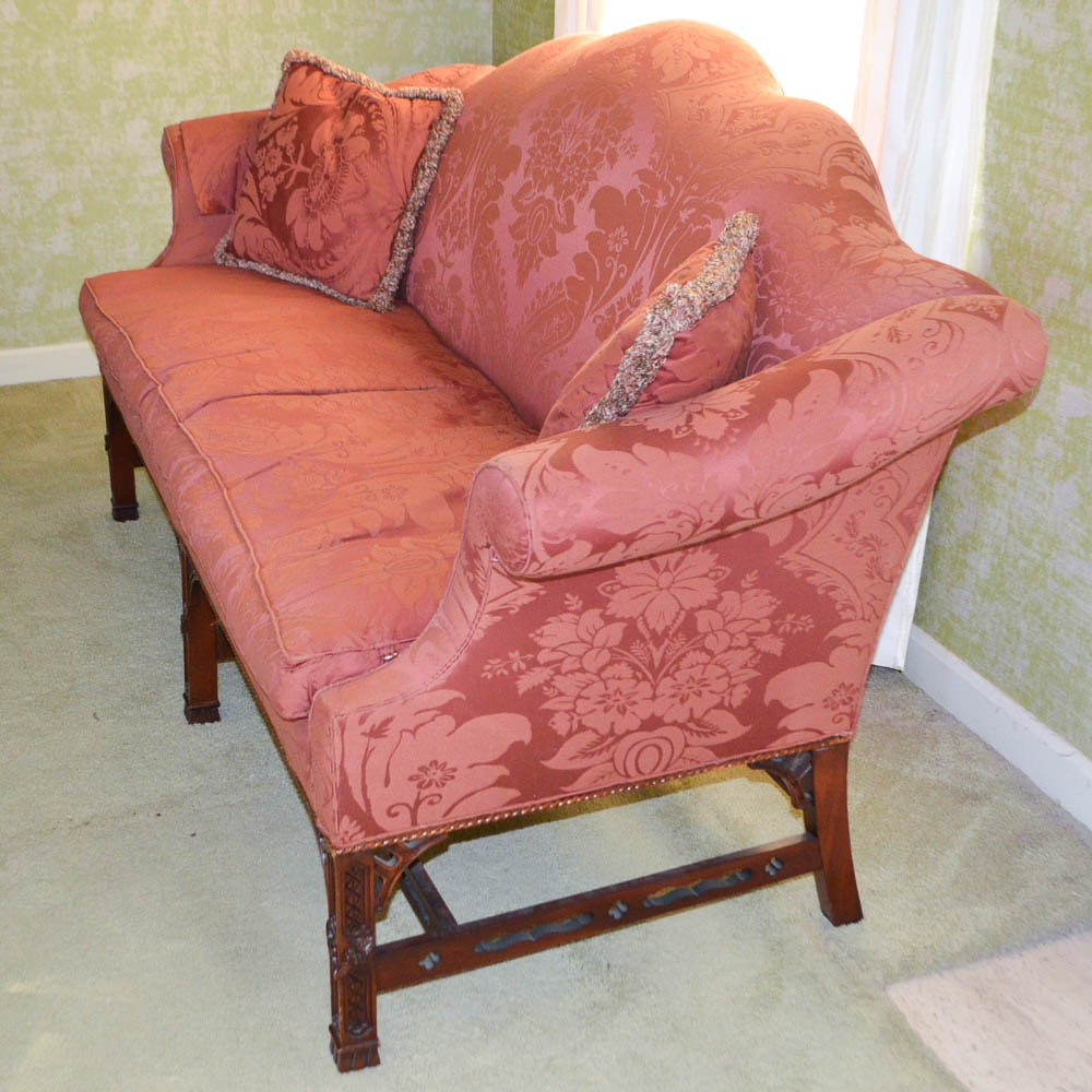 Chinese Chippendale Style Sofa By Henredon Ebth