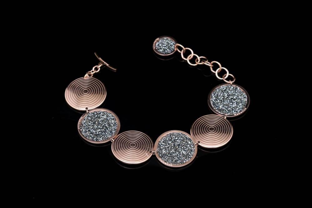 Rebecca 18K Rose Gold Plated Bronze Bracelet