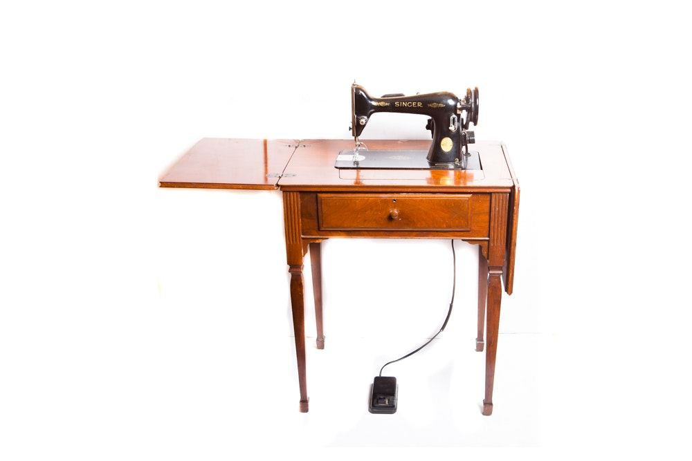 Vintage Singer Sewing Machine Table ...