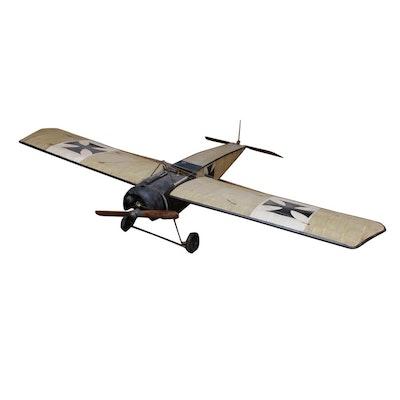 Model of German Fokker Eindecker WWI-era Fighter Plane