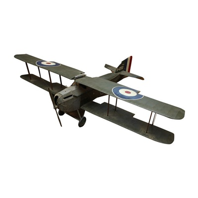 Model of RAF Armstrong Whitworth FK8 WWI-era Fighter Plane
