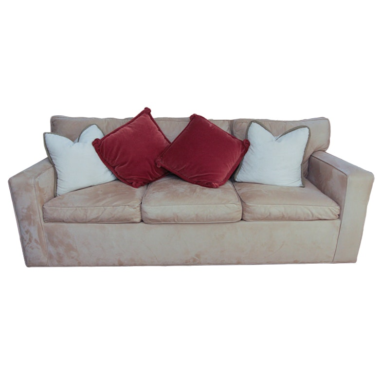 Mitchell Gold + Bob Williams Microfiber Queen Sleeper Sofa ...