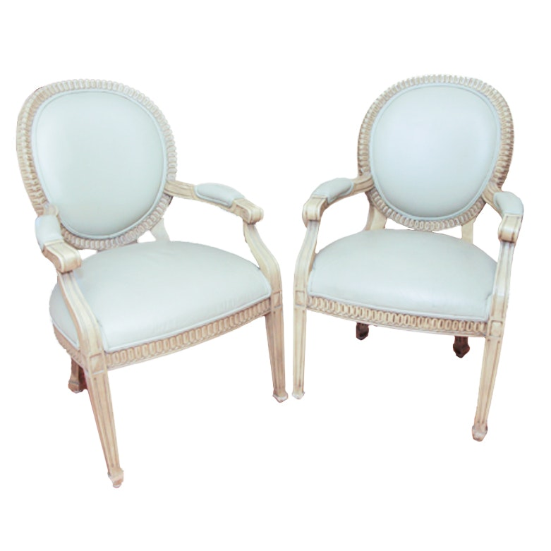 Merveilleux Upholstered Louis XVI Chairs ...