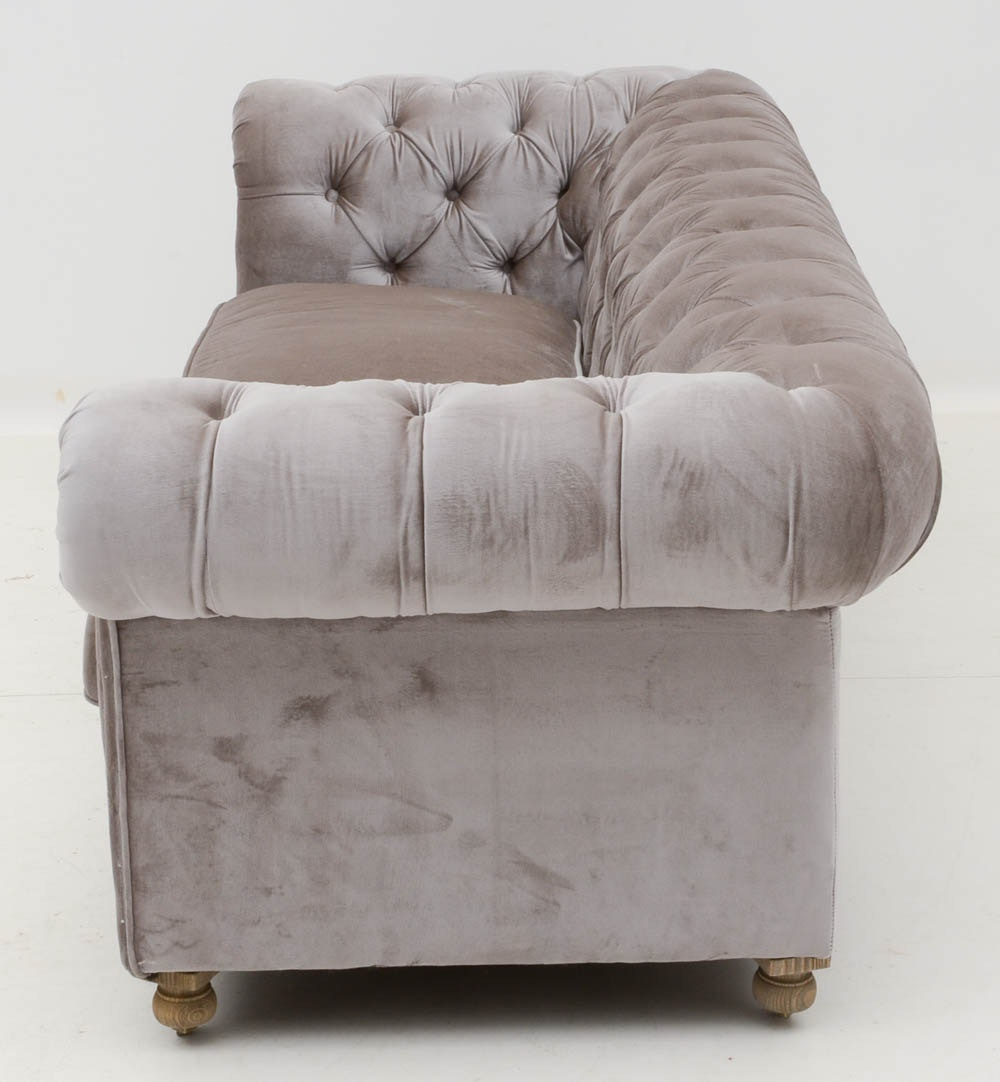 Kensington tufted sofa by restoration hardware ebth for Restoration hardware sectional sofa sale