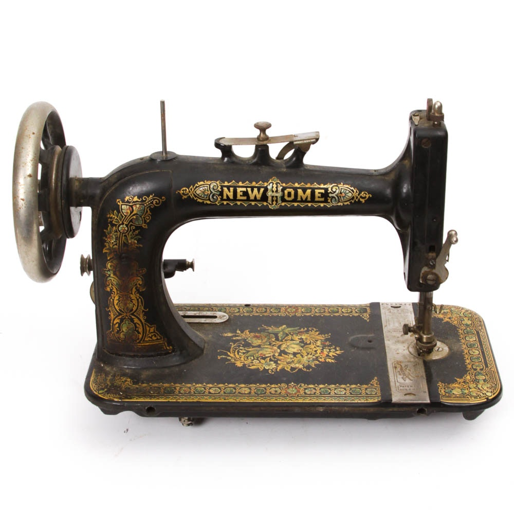 antique new home sewing machine parts
