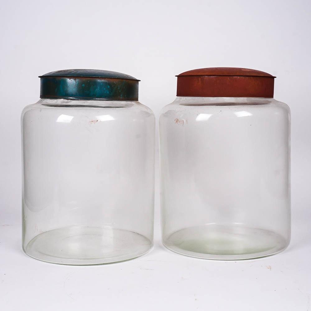 Large Vintage Glass Jars